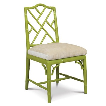 Oh, How I Love A Chippendale Chair! The Bright Apple Green Lacquer Gives A  Modern Twist To A Classic.
