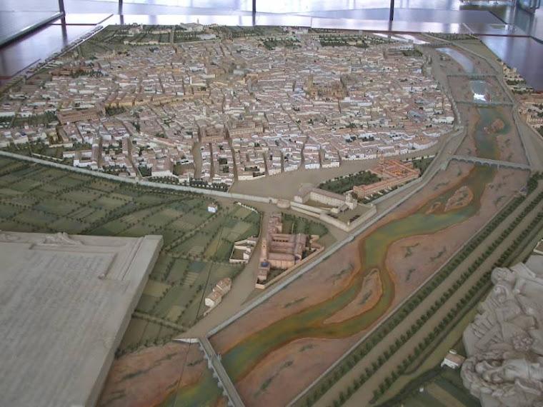 Maqueta de la València del XVIII seguint el plànol de Tosca