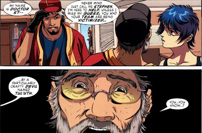 Doctor Strange tries to save a baseball team from eternal doom