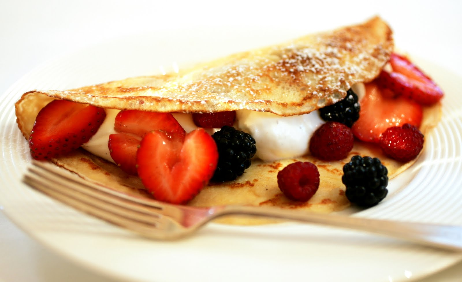 Tish Boyle Sweet Dreams: Cheesecake Mousse Crepes with Mixed Berries