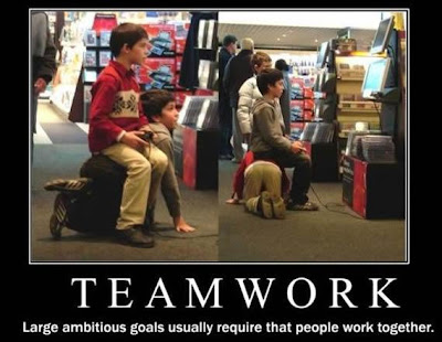 to be a successful team there must be teamwork to have teamwork there ...  Teamwork
