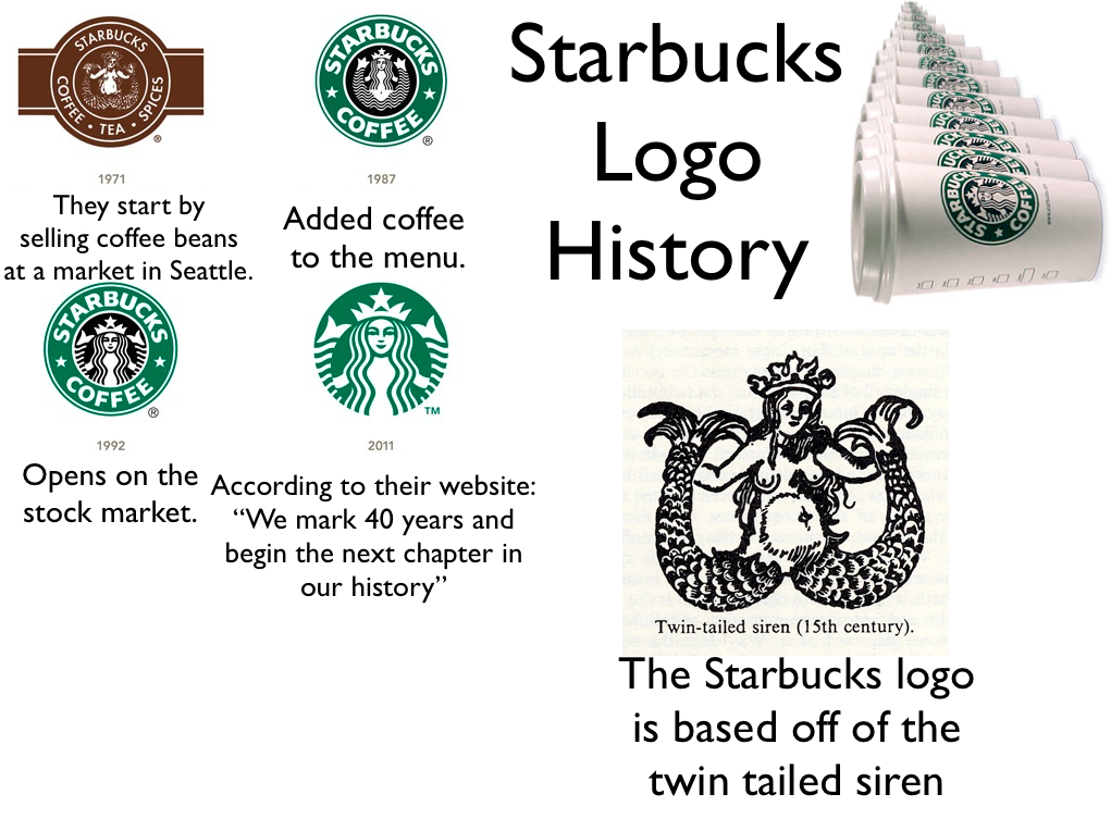 "starbucks history and development Starbucks logo, photo via bbc ""here we  starbucks logo from the back, on  9gag  rejected by committee before it really developed i was."