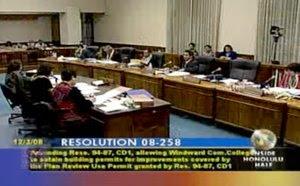 Still from video of Dec 3 City Countil meeting