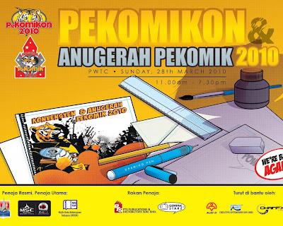 PeKOMIKon  & Anugerah PeKOMIK 2010, 28 Mac, Dewan kedah Johor, PWTC