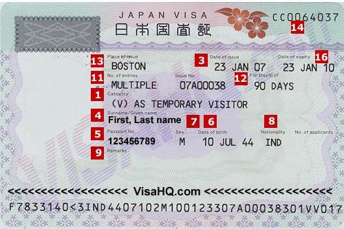embassy visa japan form