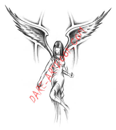evil angel tattoos. New tattoo designs and symbol
