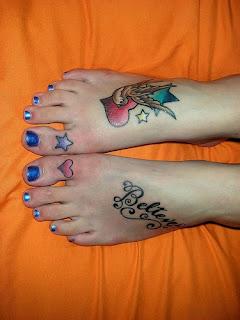 desenhos de tatuagens nos pés