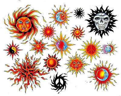 Desenhos De Tatuagens Sol Com A Lua Golfinho E Smbolo Da