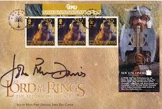 """Gimli"" FDC Isle Of Man Autographed by John Rhys Davies"