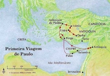 MISSIONÁRIA, PRIMEIRA, VIAGEM, PAULO, APÓSTOLO