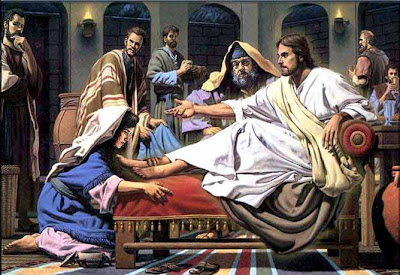 MARIA MADALENA LAVA OS PÉS DE JESUS