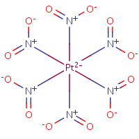 hexanitroplatinate(2-) with charge-separated nitro groups