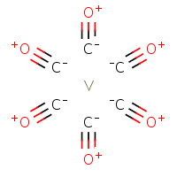 hexacarbonylvanadium with charge separation