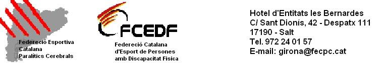 FECPC I FCEDF a Girona