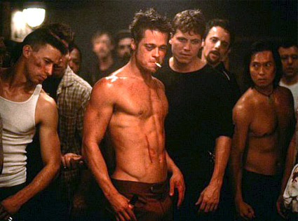 brad pitt ripped fight club. rad pitt fight club. rad pitt