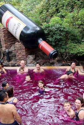 Le bain au vin rouge