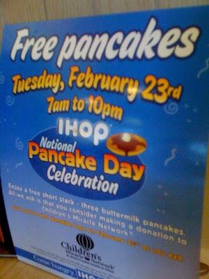 Free pancakes!
