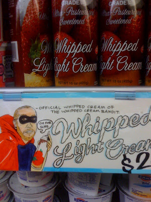 Whipped cream bandit