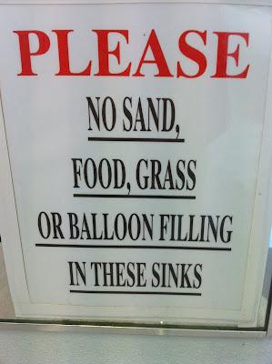 Sink sign