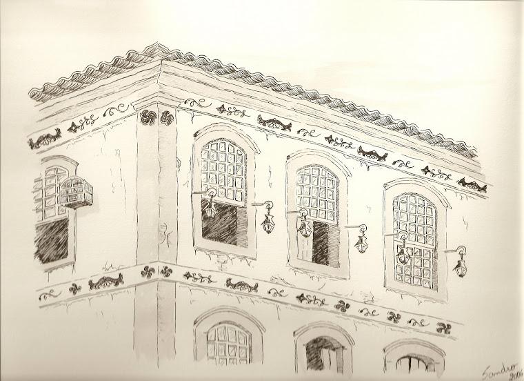 Detalhe de um casarão - Prados - MG