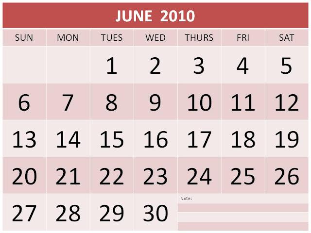 printable monthly calendar 2010. Monthly Calendar 2010: