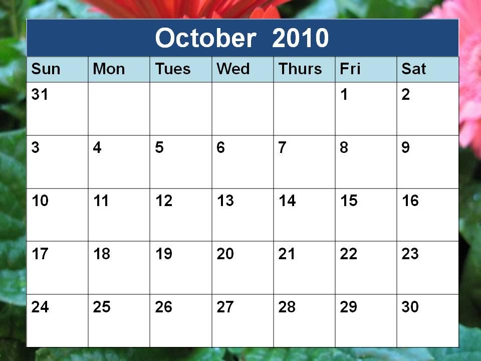 october 2010 calendar printable. 2010+calendar+october