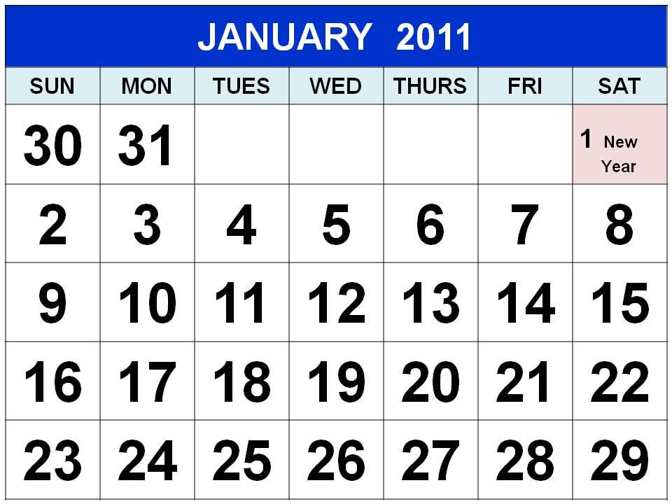 UK BANK HOLIDAYS PRINTABLE 2011 CALENDAR TEMPLATE