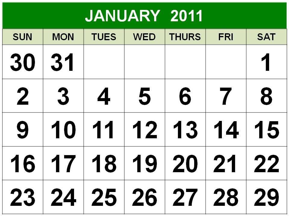 january 2010 printable calendar. large january 2010 calendar.