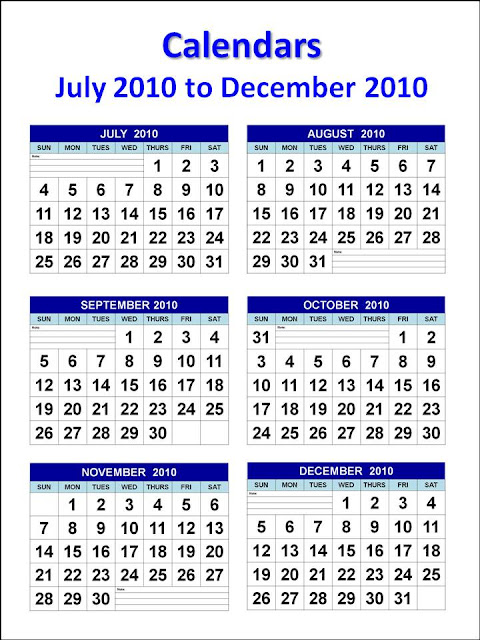 december 2010 calendar printable. Calendars July 2010 to December 2010 A4 - Design B (vertical). To download and print this Calendars 2010 Printable Jul to Dec: