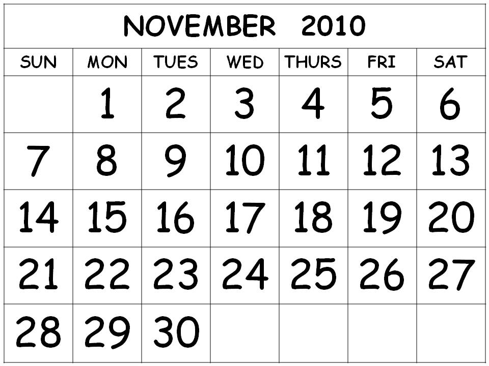 Free Large Printable Calendar Numbers