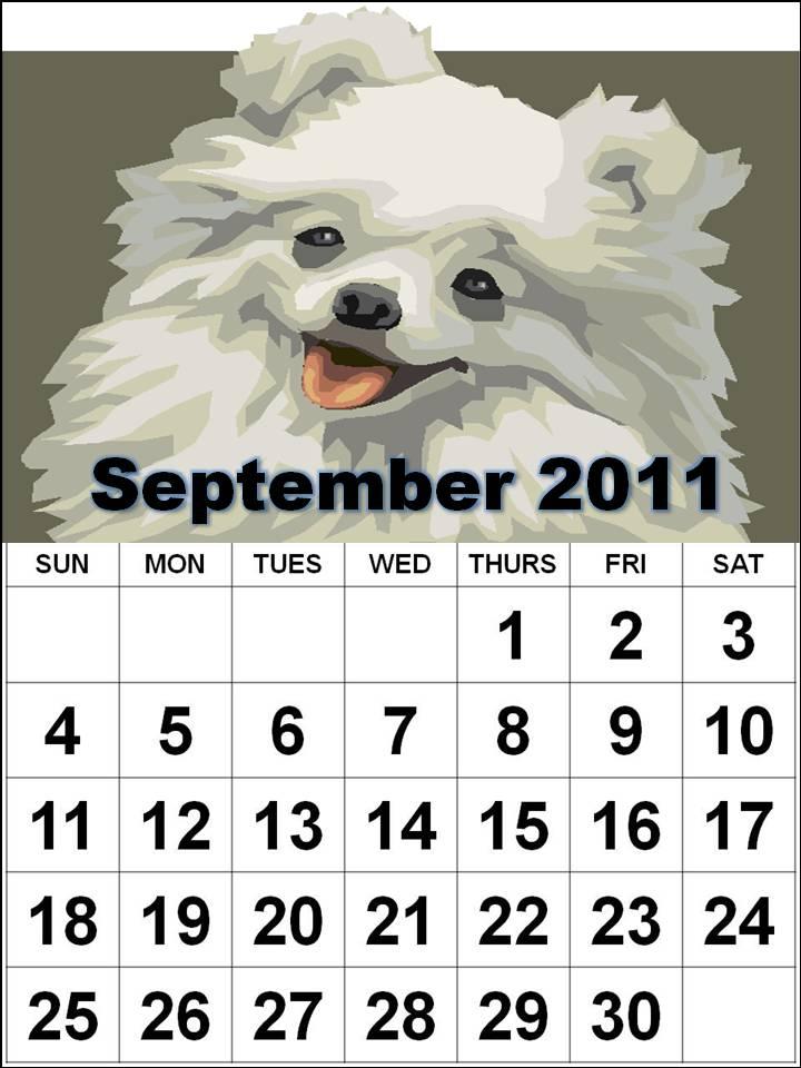 september 2013 calendar. hairstyles September 10, 2011