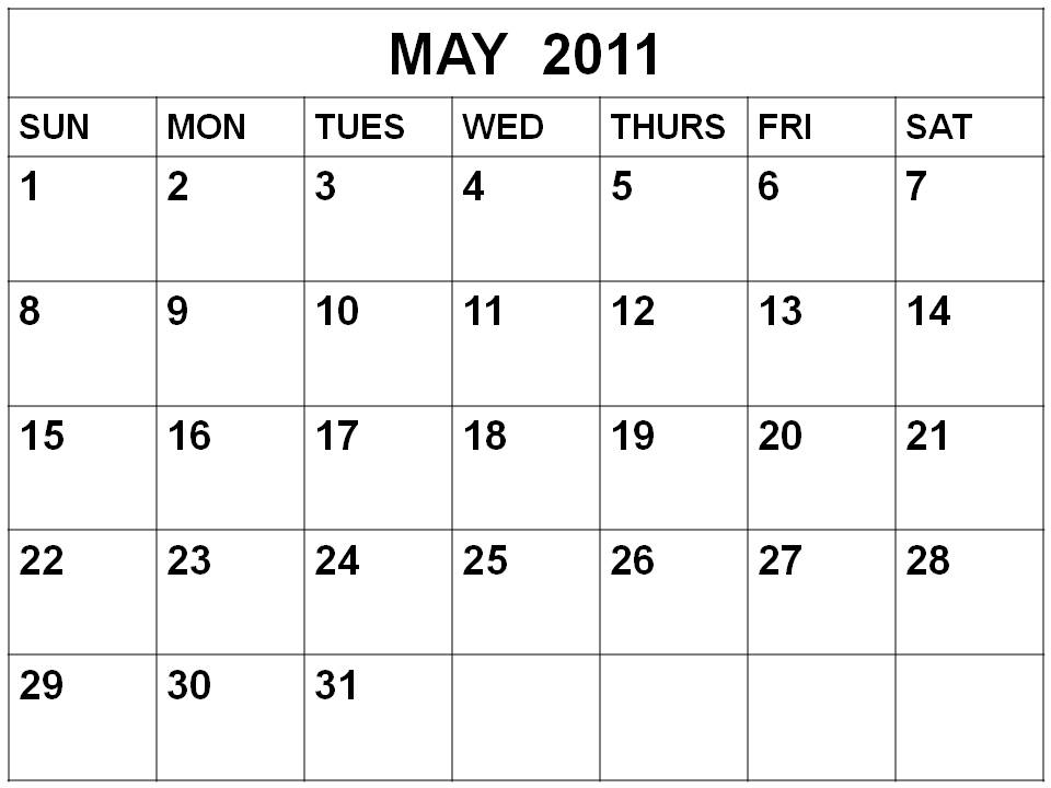 May Month Calendar 2011 calendar march april.
