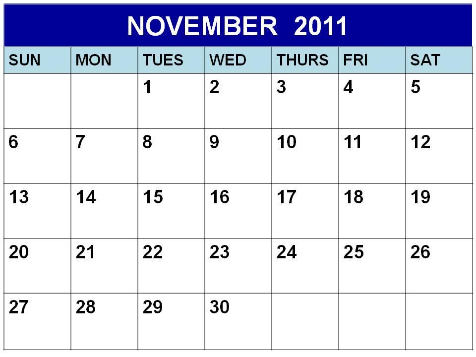 calendar november 2011. 2011 calendar template excel.
