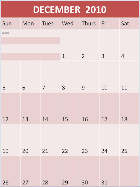 calendar template 2010. blank december 2010 calendar.