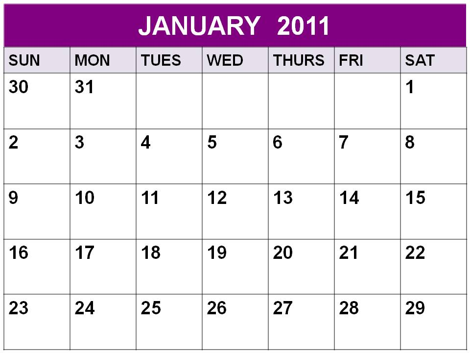 January 2011 Calendar Printable With Holidays. 2011 calendar with holidays