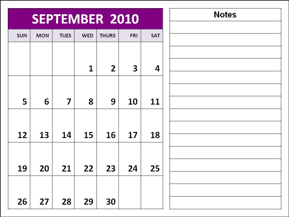 september 2010 calendar. 2010+calendar+planner