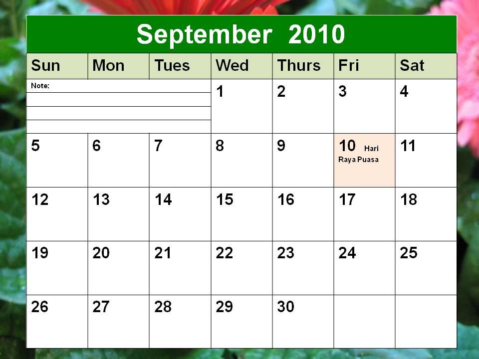 September 2010 Calendar Njyloolus: september 2011 calendar with ...
