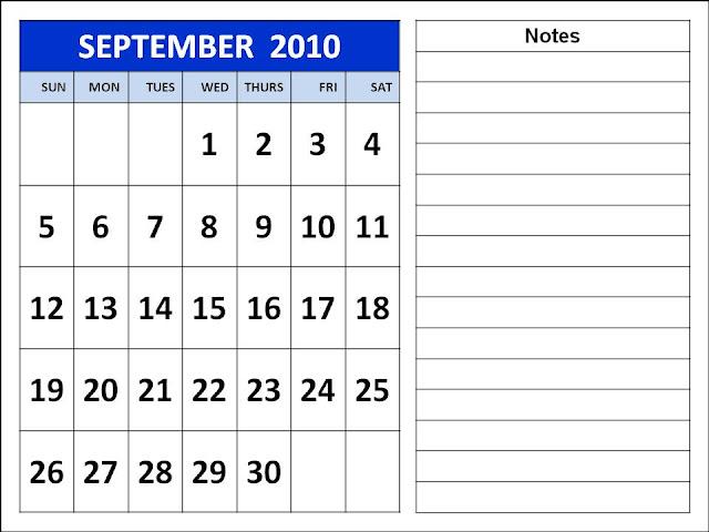september 2010 calendar. Calendar 2010 September
