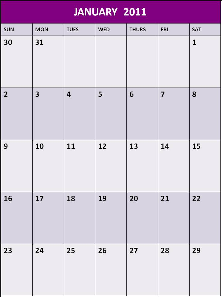 january 2011 calendar printable landscape, january 2011 calendar