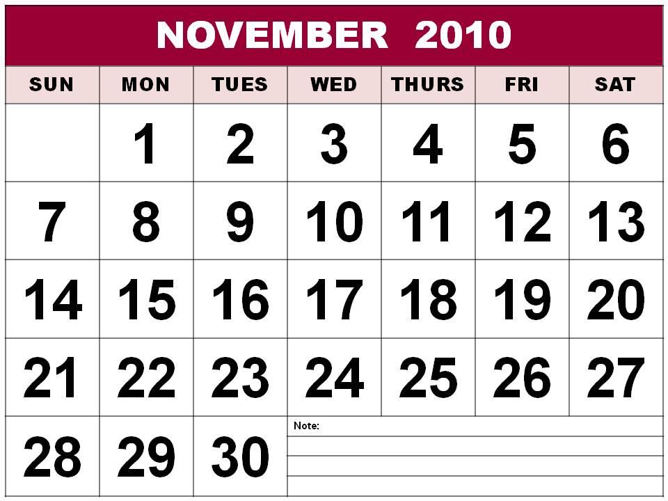printable november 2010 calendar. Calendar printable diesel den