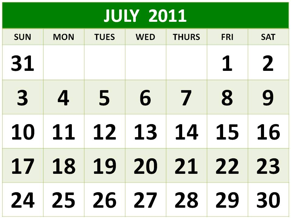 printable calendars july. printable july calendar and