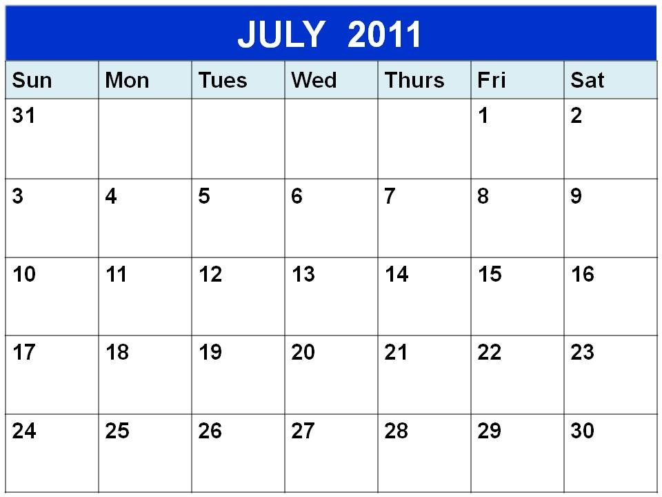 july 2011 calendar with holidays. Blank+july+2011+calendar
