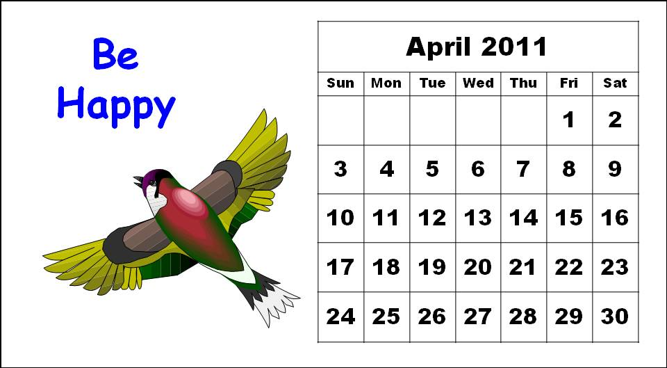 april 2010 calendar printable. cute calendars ! printable
