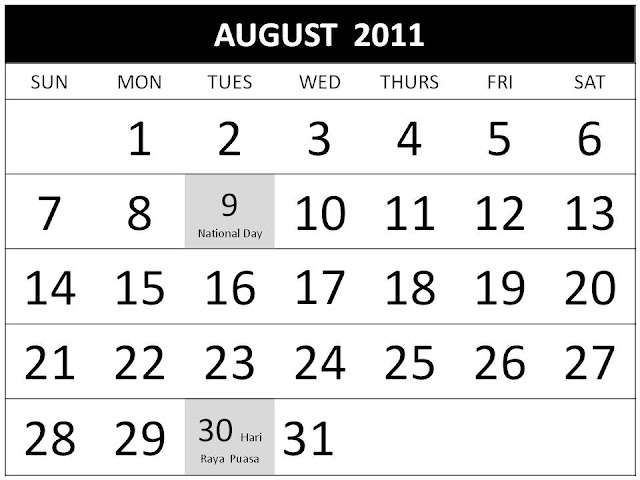august 2011 calendar with holidays. august 2011 calendar with