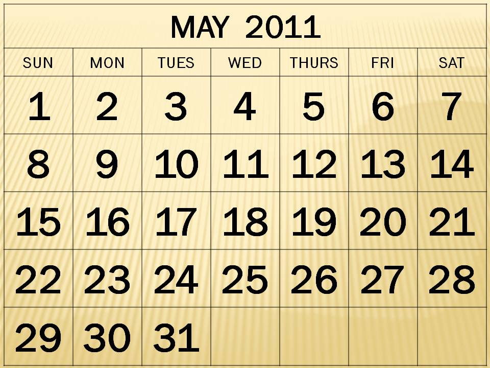 may 2011 printable calendar. MAY 2011 PRINTABLE CALENDAR