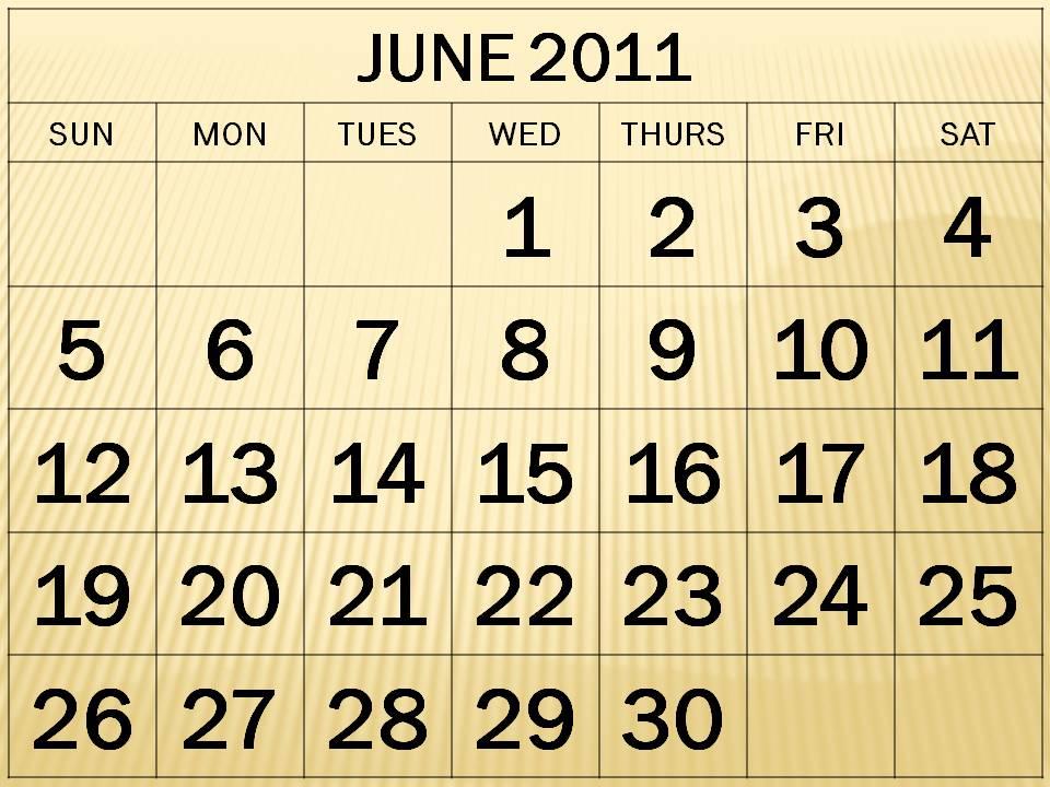 printable 2011 calendar