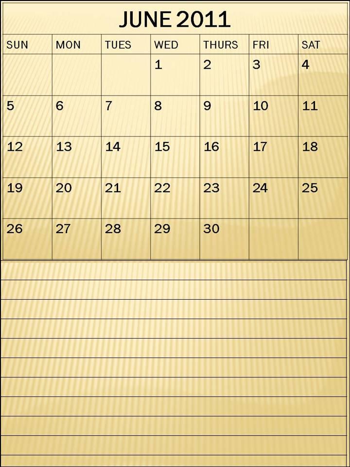 blank june 2011 calendar. Blank Calendar June 2011 or