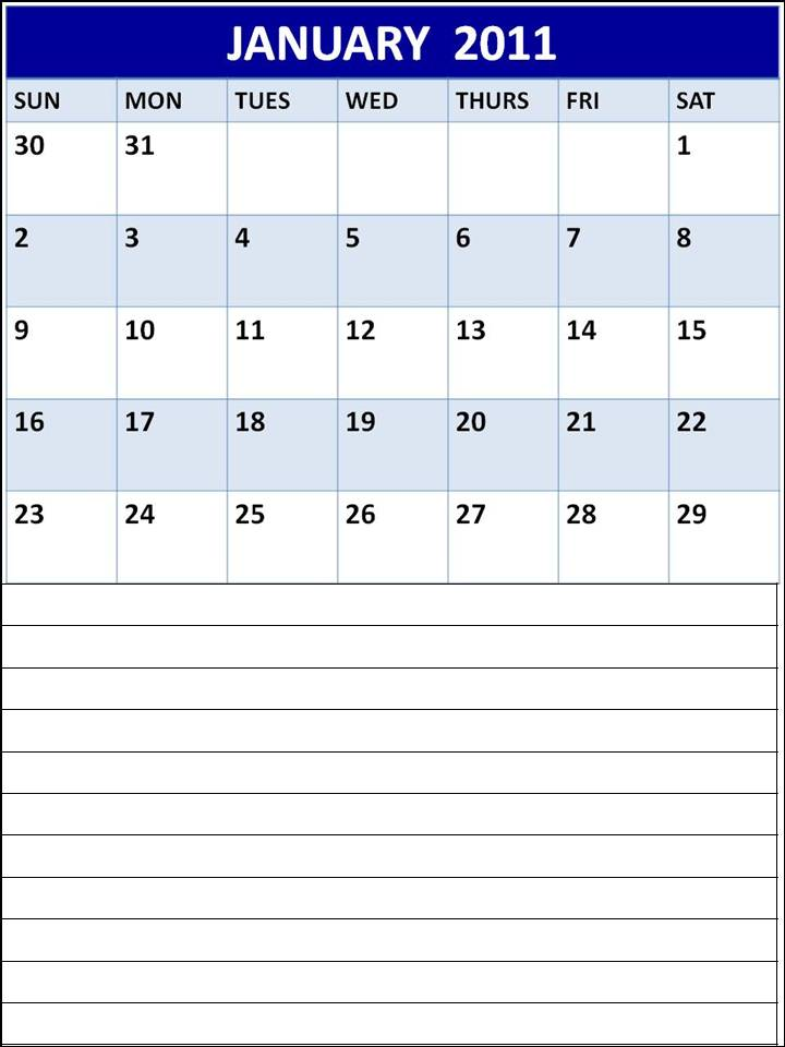 monthly planner template. MONTHLY PLANNER TEMPLATE 2011