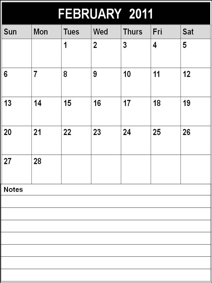 february 2012 calendar template. Blank Calendar February 2012