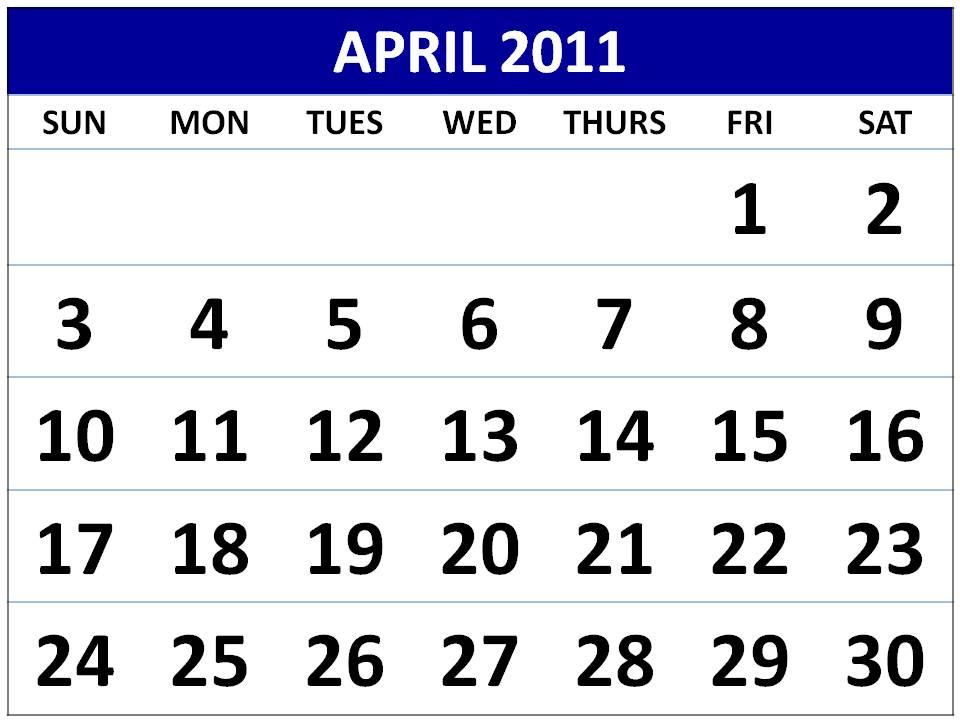 april 2011 printable calendar. images Calendar+2011+april